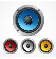 Audio speaker set vector
