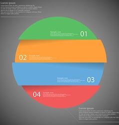 Infographic template with circle divided to four vector