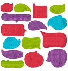 Set of special colour bubble with knitwear texture vector