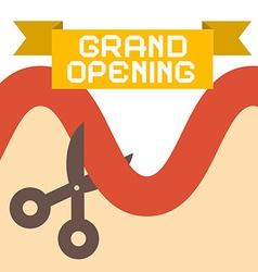 Grand Opening Flat Design Retro vector image