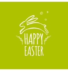 Template design easter card with easter bunny vector