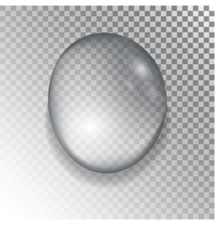 Drops of water on a transparent background vector