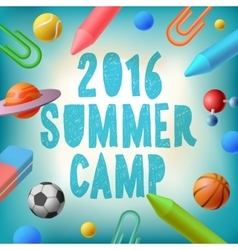 Summer camp 2016 themed poster vector image
