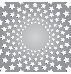 Grey stars in a circle with shadow eps 10 vector