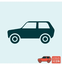 Car icon isolated vector