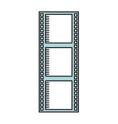 Tape roll cinema isolated icon design vector