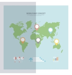 Earth icon World and Map design graphic vector image