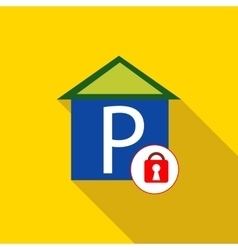 Closed parking icon flat style vector