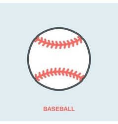 Baseball softball line icon Ball logo vector image vector image
