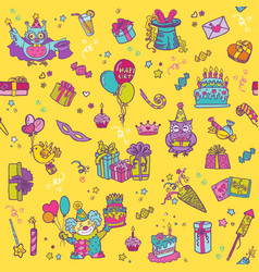 Birthday Celebration Seamless Pattern vector image vector image