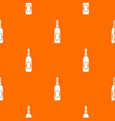 bottle of beer pattern seamless vector image