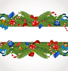 Christmas elegance card with holiday decoration vector