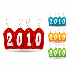 colorful 2010 tags vector image vector image