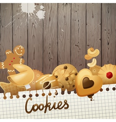 Cookies background vector
