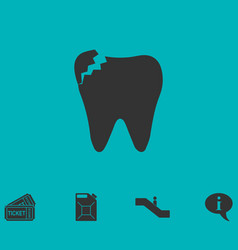 dental problem icon flat vector image vector image