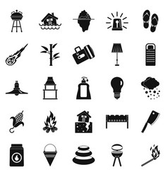 Drought icons set simple style vector