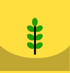 Flat icon design collection tree leaf vector