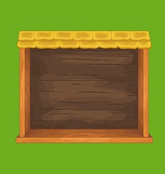 Game wooden shelf window vector image vector image