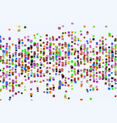 Graphic colored abstract overlapping square vector
