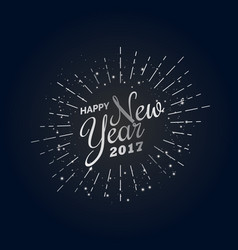 Happy new year 2017 design template in silver vector