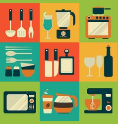 kitchenware equipment design vector image vector image