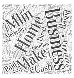 Make Easy Daily Cash with a Home Based Business vector image
