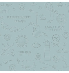Marine doodle seamless hipster pattern vector