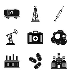 Material icons set simple style vector