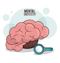 Mental health human brain search innovation vector