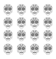 Mexican art skull background vector