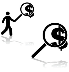 Money search vector image
