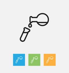 Of teach symbol on tube vector