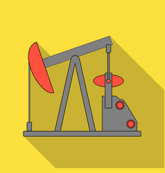 Oil pumpoil single icon in flat style vector