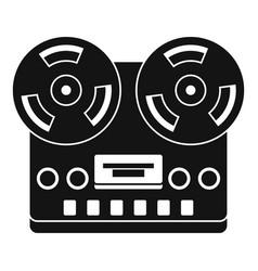 retro tape recorder icon simple style vector image