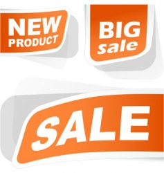 sale sticker set vector image vector image
