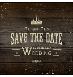 Save the date badges cards and labels for any use vector