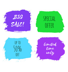set of big sale design templates vector image vector image
