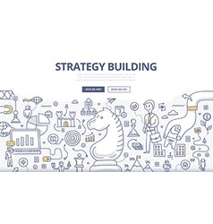 Strategy Building Doodle Concept vector image