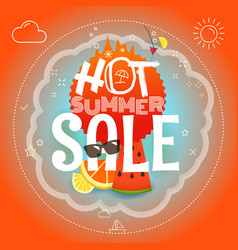 Summer sale hot summer vector