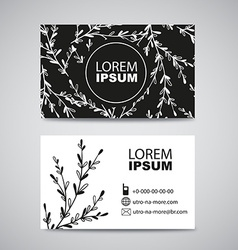 Two sided business card for natural eco product vector image vector image