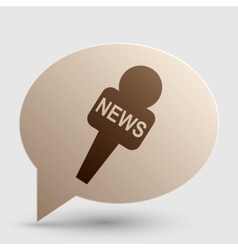 Tv news microphone sign  brown vector