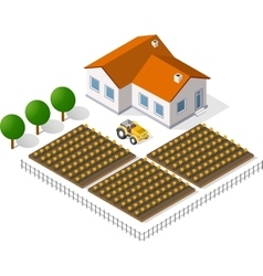 Houses and gardens vector