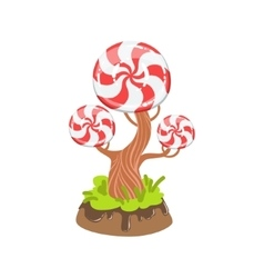 Hard candy with classic swirl pattern tree fantasy vector