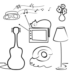 Interior objects vector