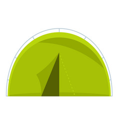 Green touristic camping tent icon isolated vector
