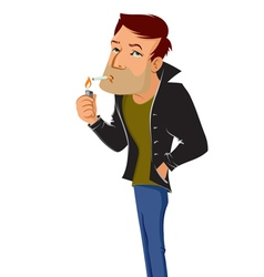 Smoking man vector