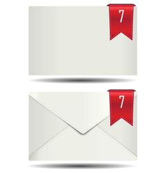 White closed mail box alert icon vector