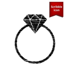 Diamond icon scribble icon for you design vector