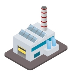 Isometric factory building icon vector