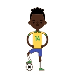 Soccer player kicking ball competition sport young vector
